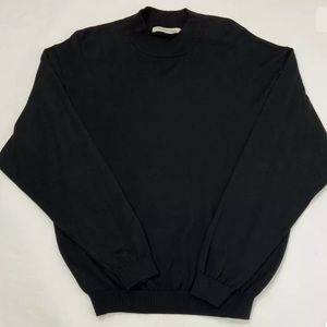 Pronto Uomo Sweater Silk Blend Thin Knit Black